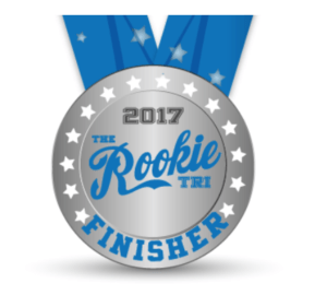 2017 Rookie Tri Finisher Basno badge.