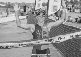 Triathletes will cross the finish line of the 17th edition of Jack's Generic Triathlon on Sunday, August 25th!